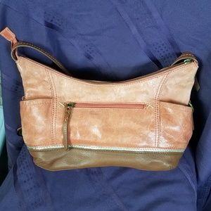 The Sak Vintage Leather Shoulder Bag Distressed